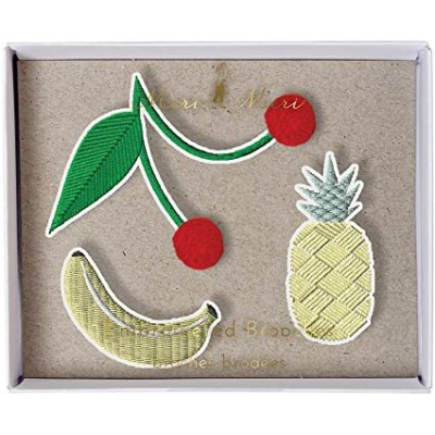 Meri Meri - broches brodées - Fruits