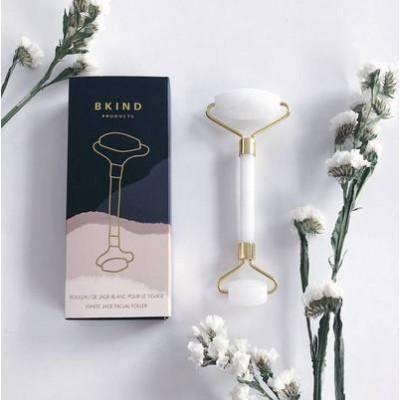 Bkind - Rouleau de jade blanc pour le visage