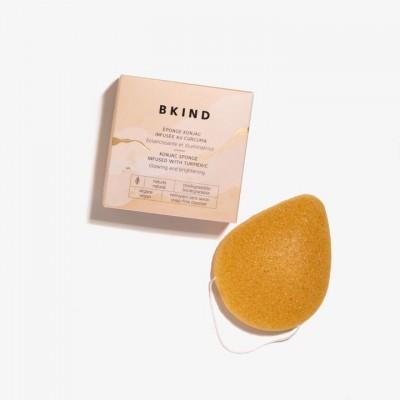 Bkind - Éponge faciale konjac infusée de Curcuma (vrac)