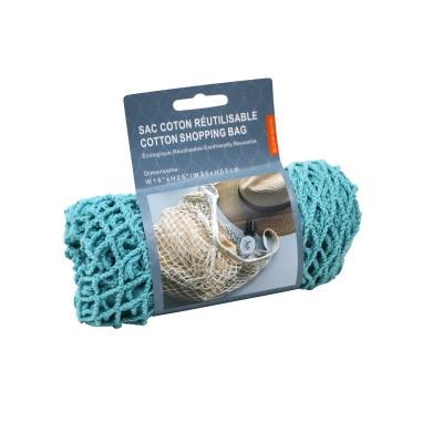 Sac coton réutilisable - Turquoise
