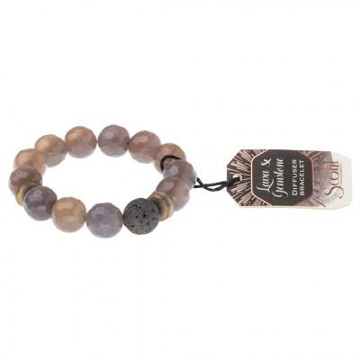 Scout -  Bracelet diffuseur avec pierre de lave - agate grise