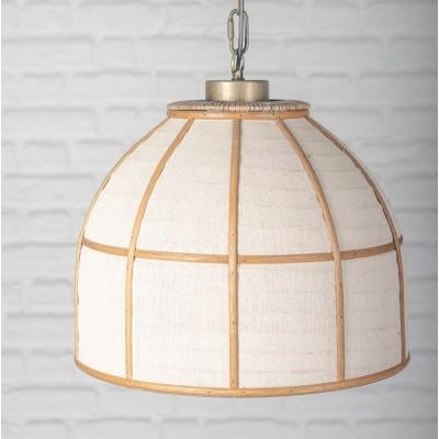 Forepost - Luminaire suspendu - lampe bambou et coton