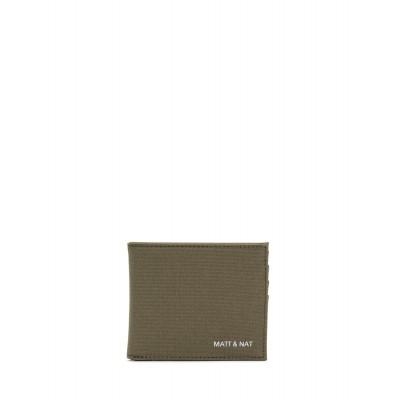 Matt & Nat - Portefeuille - Rubben canvas - Olive