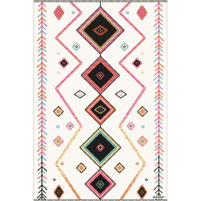 Beaumont - Tapis vinyle - Flèches roses - 54.7''x78''