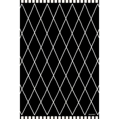 """Beaumont - Tapis vinyle - mosaïque noire - 19.5''x32"""""""
