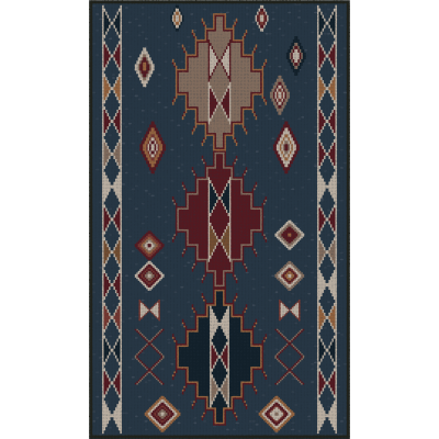 Beaumont - Tapis vinyle - Navy - 19.5''x32""
