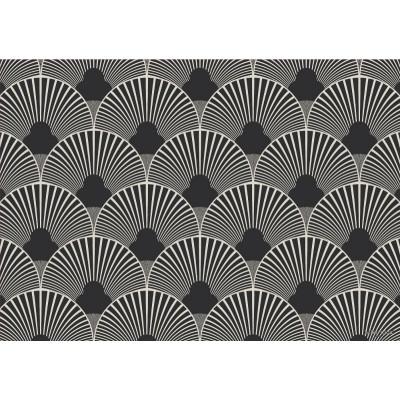 """Beaumont - Tapis vinyle - Fan noire - 19.5''x32"""""""