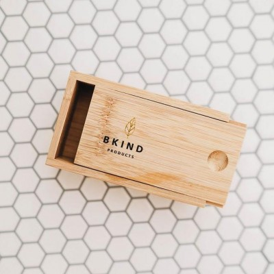 Bkind - Boîte en bambou pour shampoing et revitalisant en barre