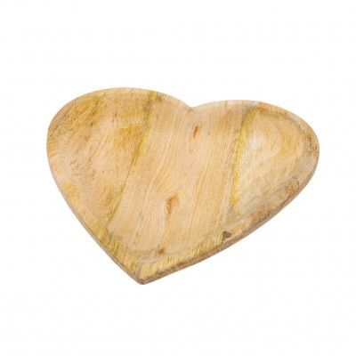 Indaba - Assiette- Coeur en bois - Grande