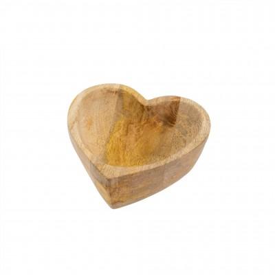 Indaba - Assiette- Coeur en bois - petite
