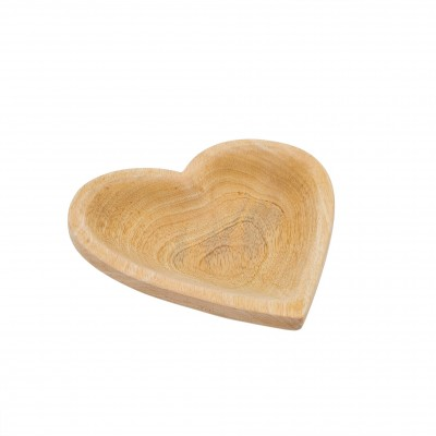 Indaba - Assiette- Coeur en bois - Moyenne