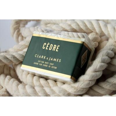 Clark & James - Savon sur corde de coton - Cèdre