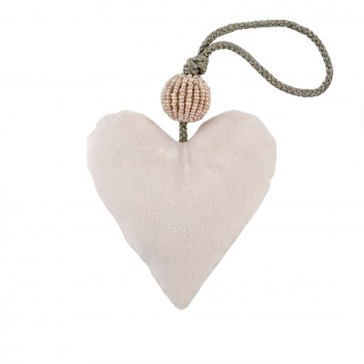 Indaba - Ornement - Coeur - Blanc