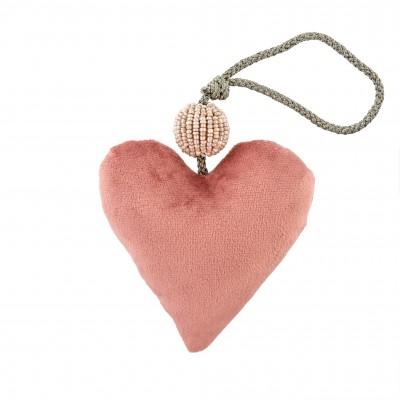 Indaba - Ornement - Coeur - Rose