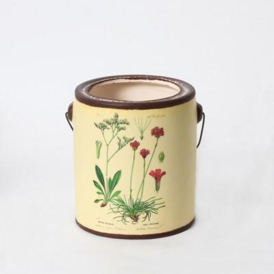 C.J Marketing - pot - fleur rouge