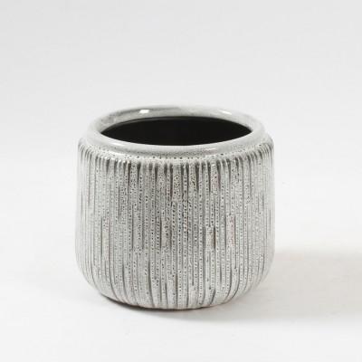 C.J Marketing - pot - Blanc ligné brun