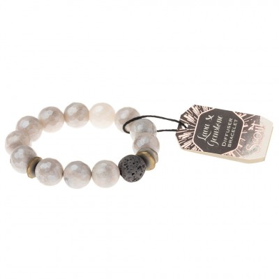 Scout -  Bracelet diffuseur avec pierre de lave - Champagne